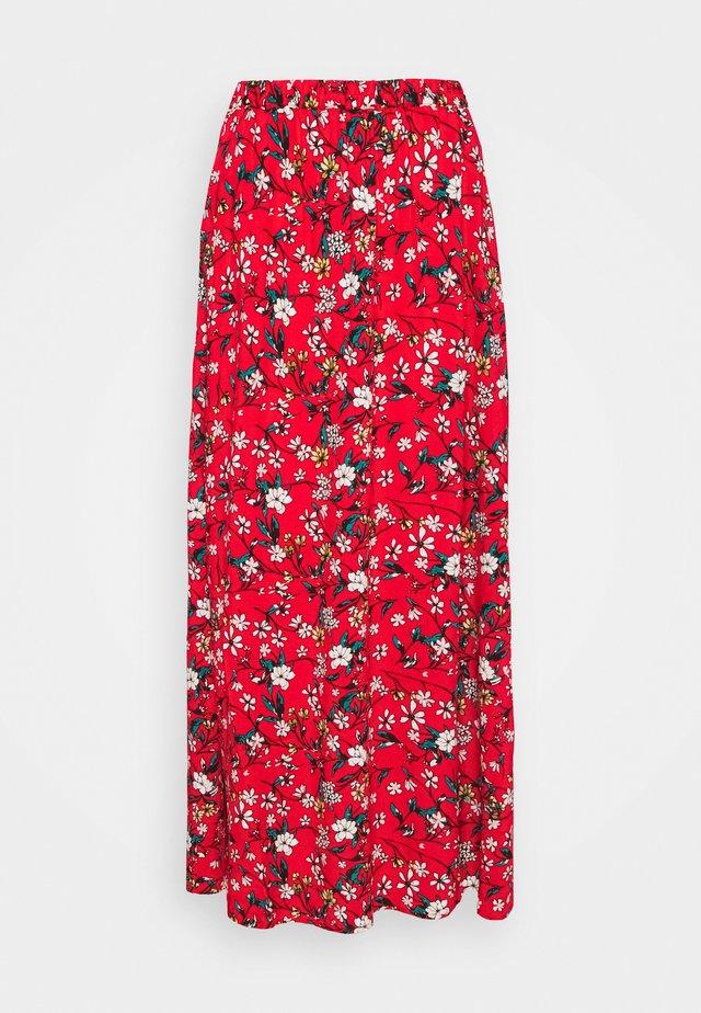 VMSIMPLY EASY SKIRT - Maxi skirt - goji berry