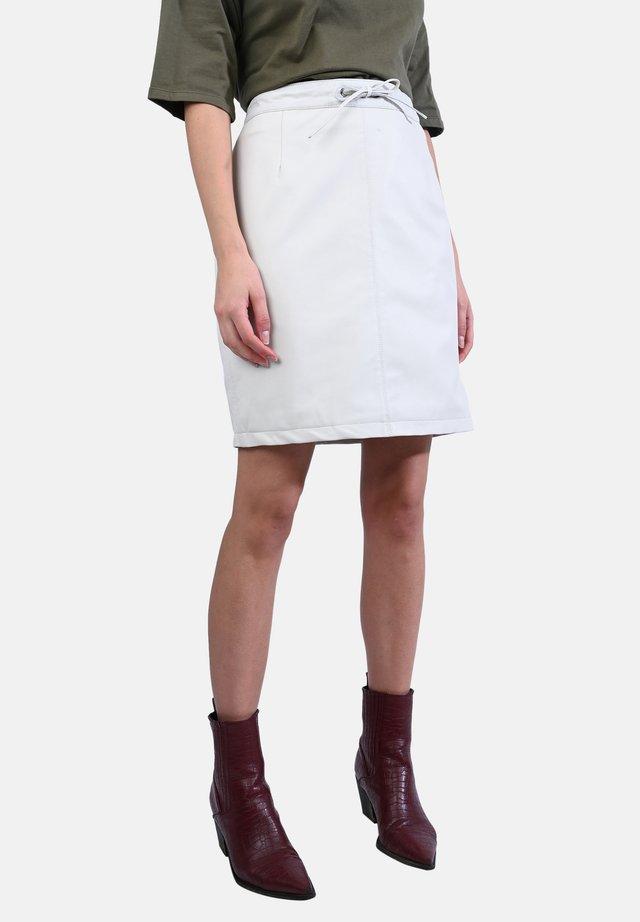 CELIA - Mini skirt - white