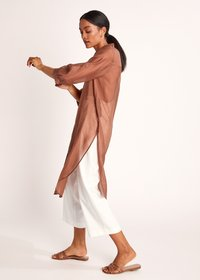 comma - Button-down blouse - burnt sienna - 2