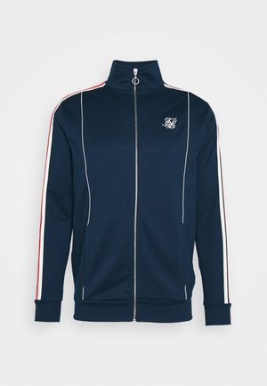 RETRO FUNNEL NECK TAPEZIP THROUGH TRACK TOP - Cardigan - navy