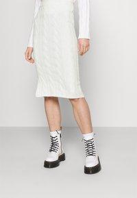 Fashion Union - AVERY SKIRT - Pencil skirt - cream - 0