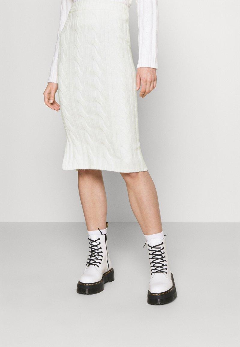 Fashion Union - AVERY SKIRT - Pencil skirt - cream