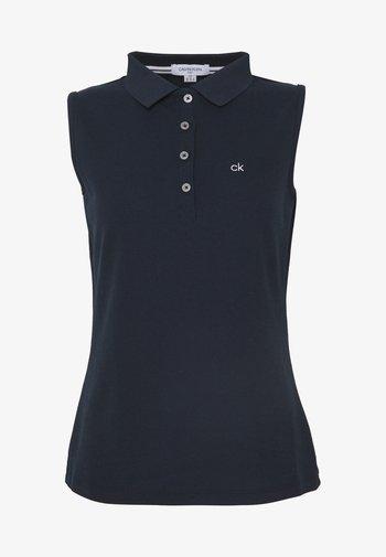 SLEEVELESS PERFORMANCE - Polo shirt - navy