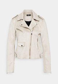 ONLY Tall - ONLSHERRY BONDED BIKER - Faux leather jacket - pumice stone - 5