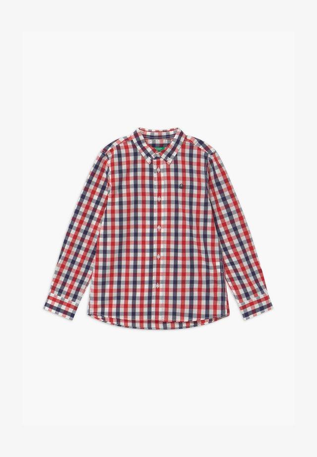 Skjorta - red/dark blue/white