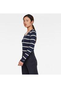 G-Star - CORE EYBEN SLIM U T WMN L\S - Long sleeved top - sartho blue monk stripe - 2