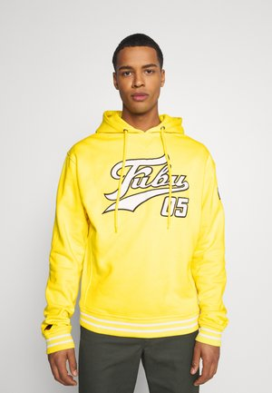 VARSITY HOODED - Hoodie - yellow