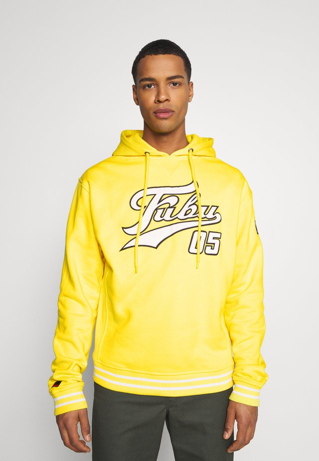 VARSITY HOODED - Huppari - yellow