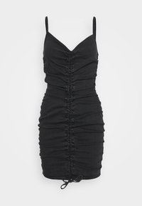 LEONA DRESS - Denim dress - tuned black