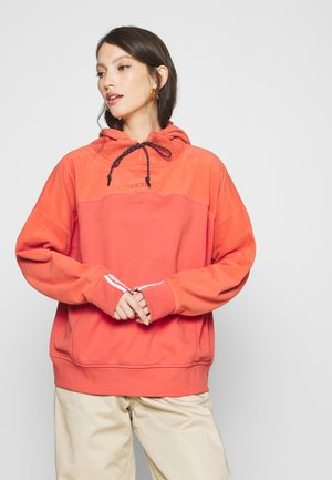 SPORTS INSPIRED LOOSE HOODED  - Hoodie - coral