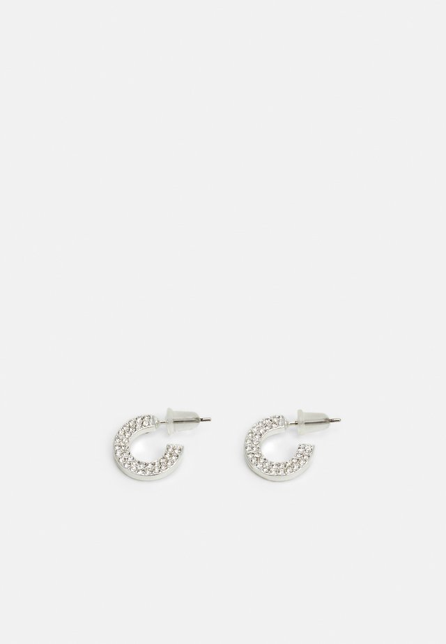 MARI SMALL OVAL EAR - Orecchini - silver-coloured/clear