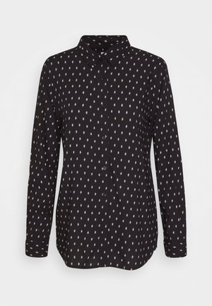 VERA - Button-down blouse - black