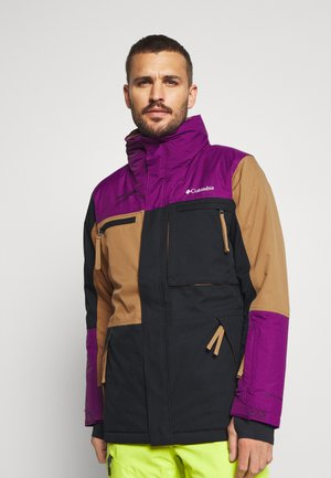PARK RUN JACKET - Snowboard jacket - black/delta/plum