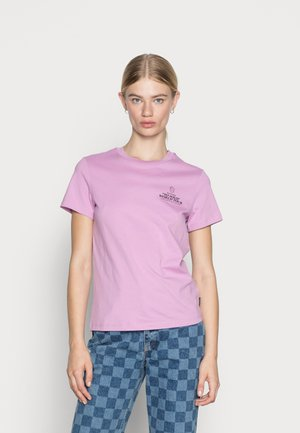 CREWNECK WITH GRAPHIC RELAXED FIT - T-shirt print - mauve