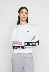 Fila Tall - TALLIS CREW - Long sleeved top - bright white - 0