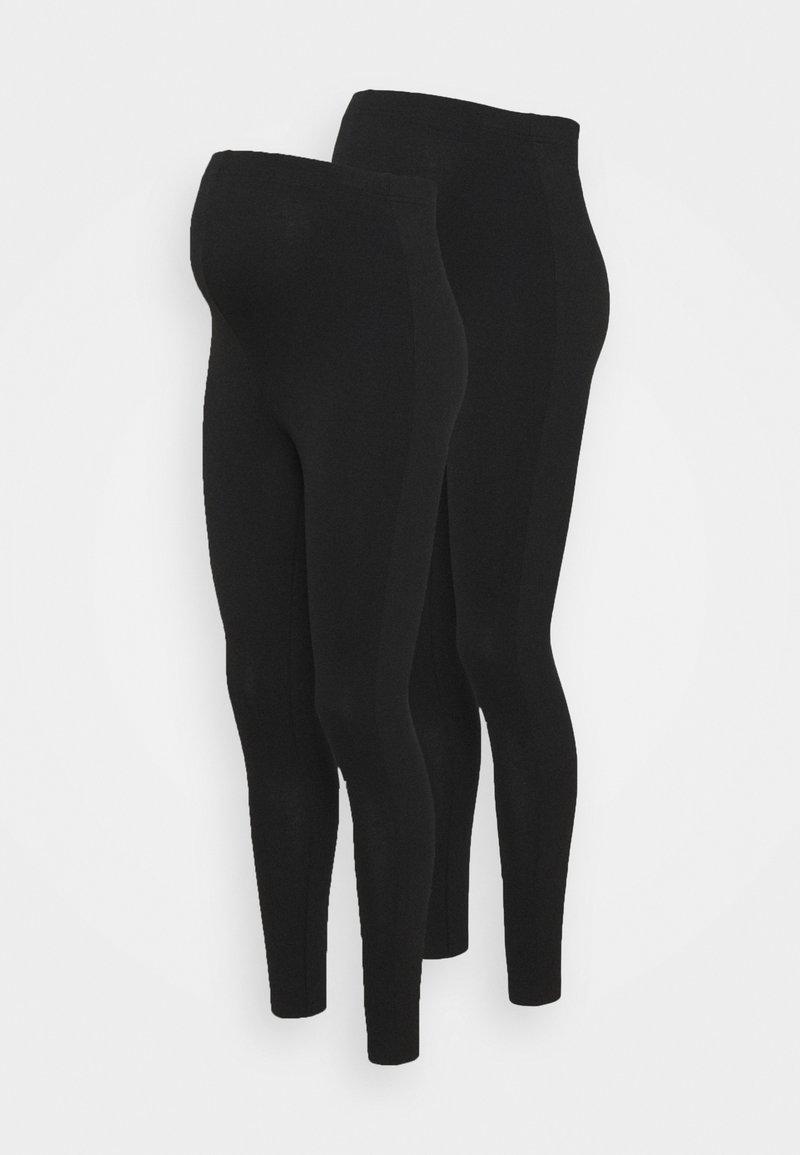 Missguided Maternity - 2 PACK  - Legginsy - black