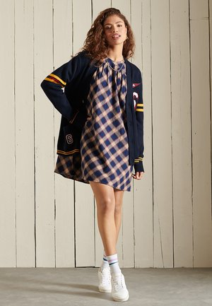 CHECK  - Day dress - navy check