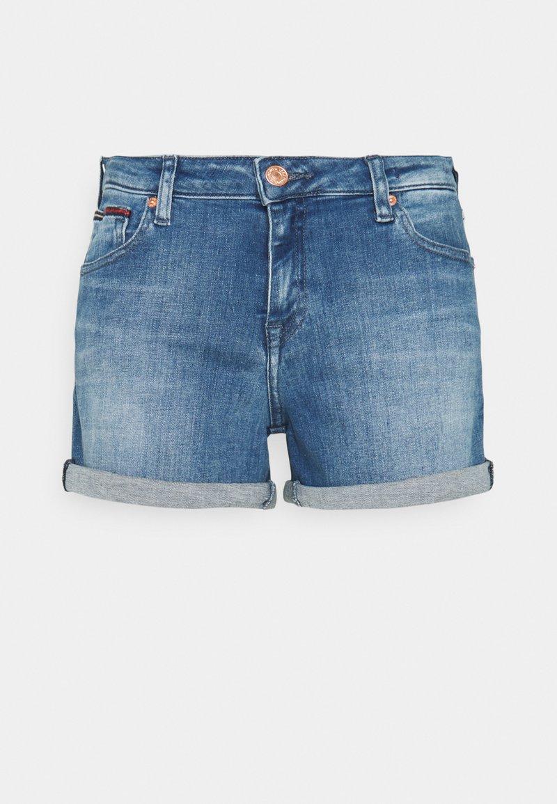 Tommy Jeans - SHORT - Denim shorts - blue denim