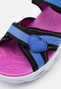 Skechers - HYPNO SPLASH - Walking sandals - blue/black/fuchsia - 5