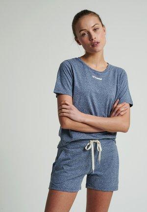 Basic T-shirt - blue nights melange