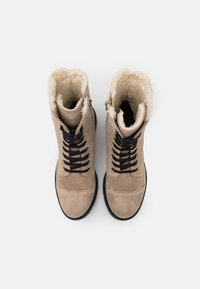 Anna Field - LEATHER - Lace-up ankle boots - beige - 5