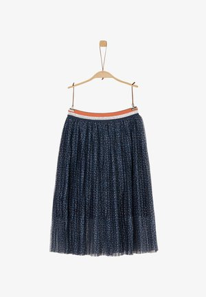 Pleated skirt - dark blue aop
