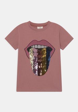TEE - Print T-shirt - ash rose