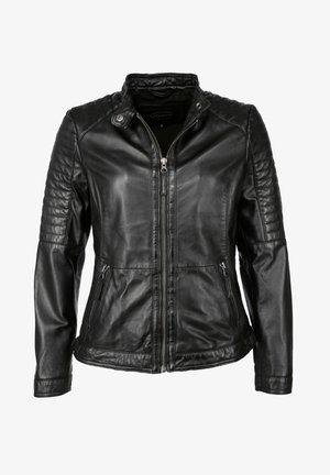 LEICHT TAILLIERT - Leren jas - black