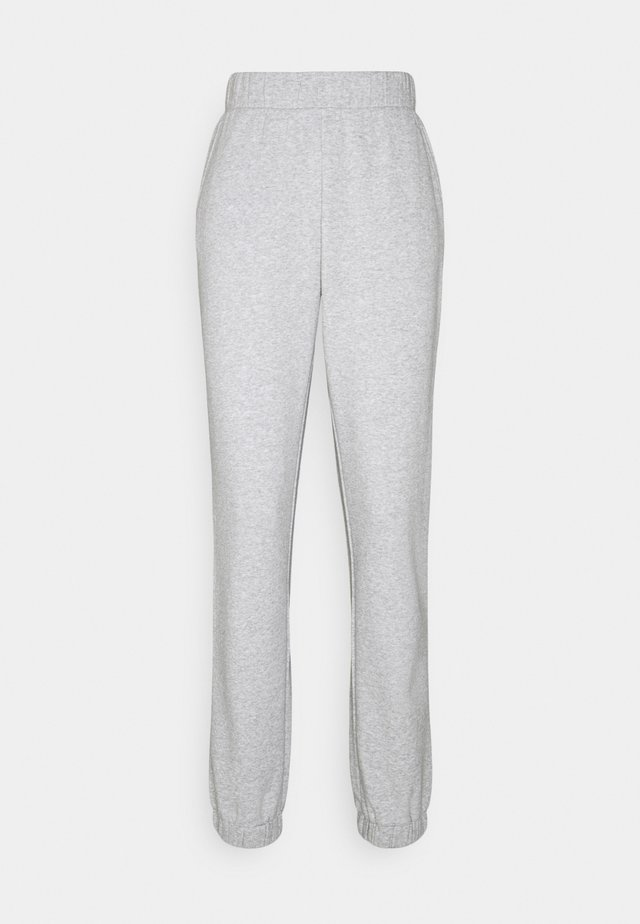PCLEDA ANKLE PANTS - Joggebukse - light grey melange