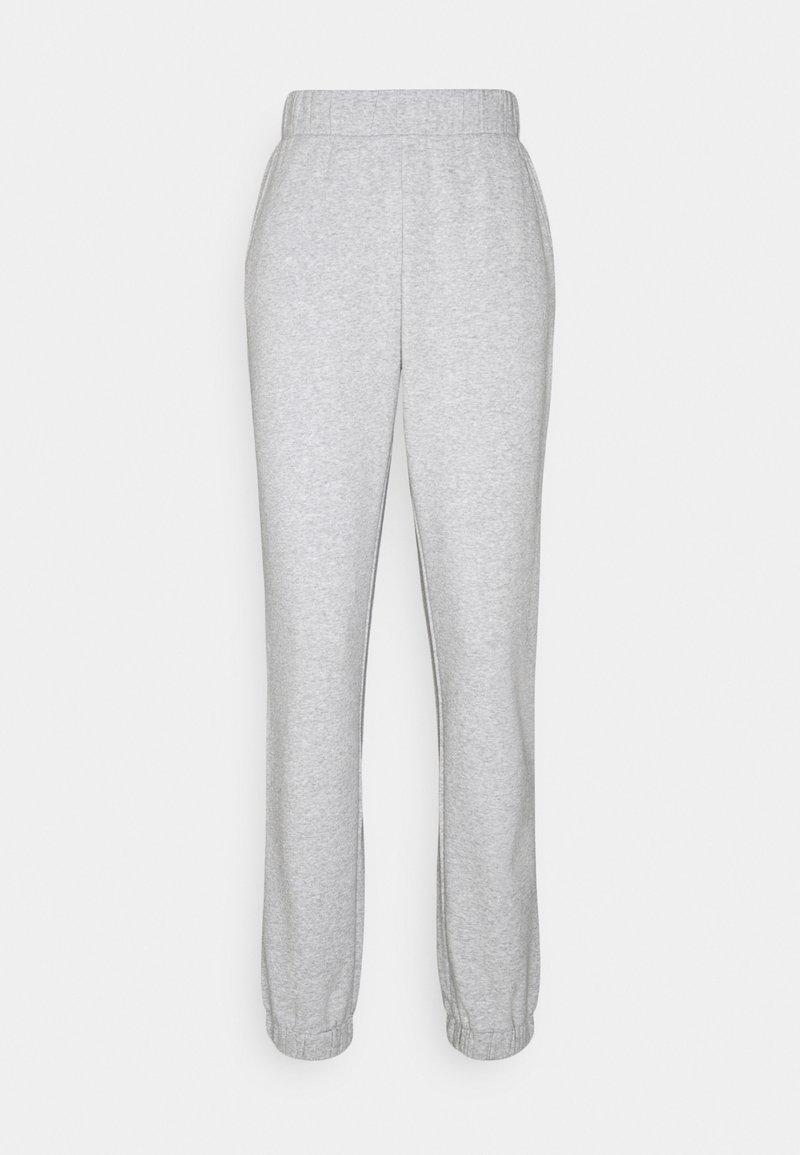 PIECES Tall - PCLEDA ANKLE PANTS - Tracksuit bottoms - light grey melange