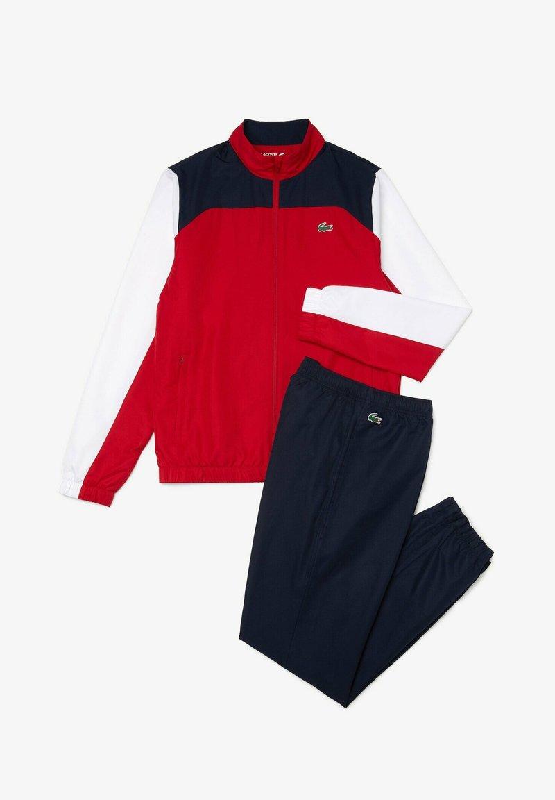 Lacoste Sport - Trainingspak - rouge / blanc / bleu marine / blanc / noir