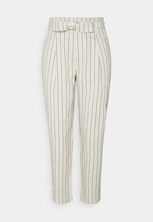 ONLVIVA CLEO BELT STRIPE PANT - Trousers - moonbeam/black