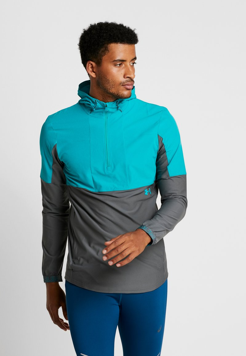 Under Armour - Løbejakker - teal rush/pitch gray/teal rush