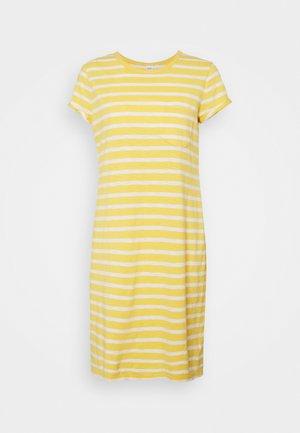 TEE DRESS - Vestido ligero - yellow/white