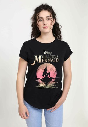 DISNEY WOMEN'S MERMAID MOON - Print T-shirt - black