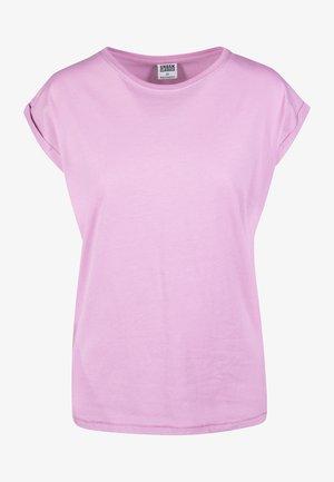 EXTENDED SHOULDER TEE - Camiseta básica - coolpink