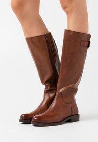 s.Oliver BLACK LABEL - Boots - brandy - 0
