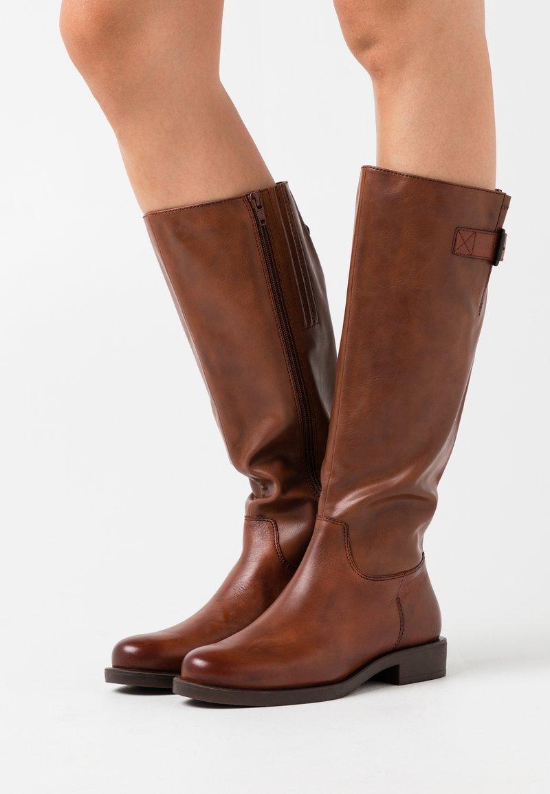 s.Oliver BLACK LABEL - Boots - brandy