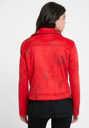 CHAQ DELAWARE - Faux leather jacket - red