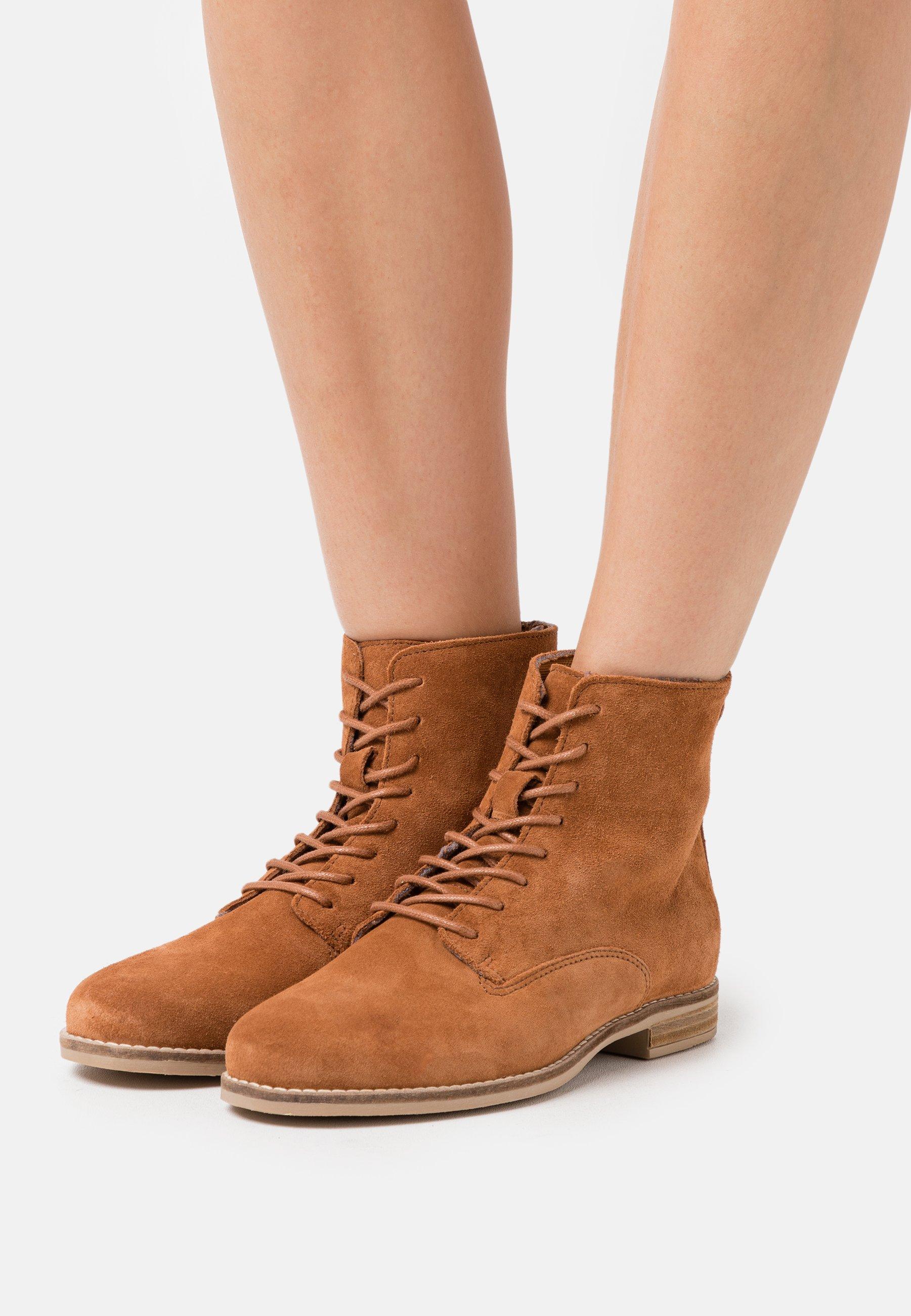 2020 Newest Online Shop Women's Shoes Anna Field LEATHER Lace-up ankle boots cognac hgQaZ6URi 3RBixMBpS