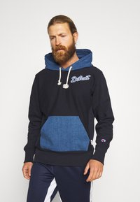 Champion - MLB DETROIT TIGERS HOODED - Pelipaita - dark blue - 0