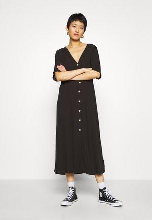 SILENA DRESS - Shirt dress - black