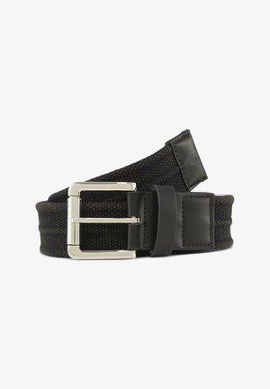 Braided belt - black uni