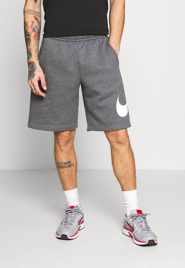 Shorts - charcoal heathr/white