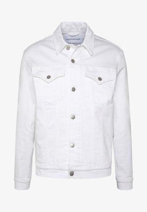FOUNDATION SLIM JACKET - Denim jacket - white with embro