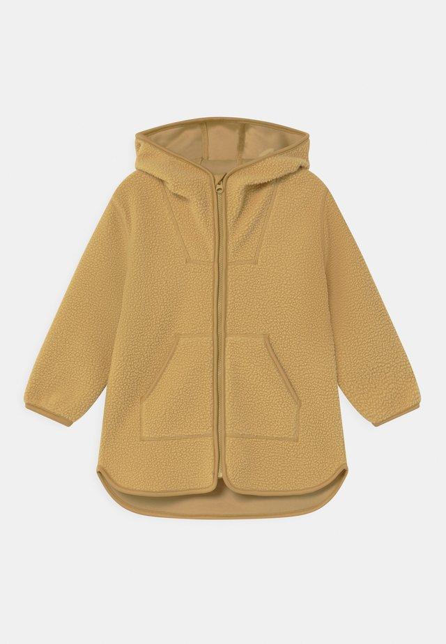 Zip-up hoodie - dusty yellow