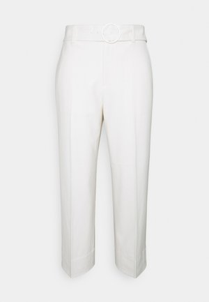 ENAMEL RING PANT - Kalhoty - ecru