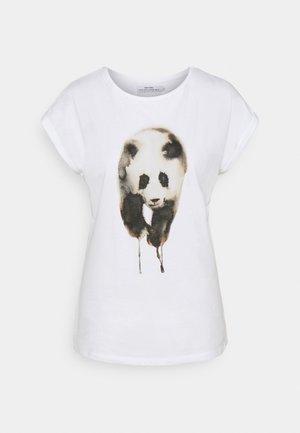 VISBY PAINTED PANDA  - Print T-shirt - white