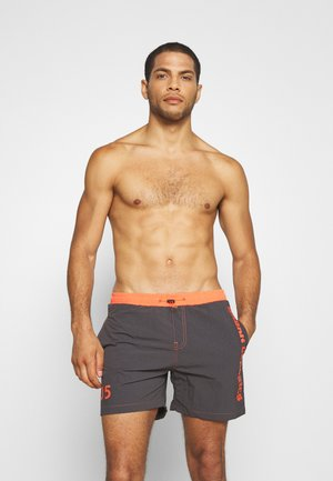 LOGO SWIM  - Swimming shorts - anthracite/orange