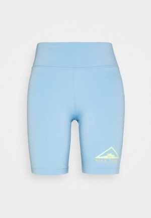 FAST SHORT TRAIL - Tights - psychic blue/reflective silver